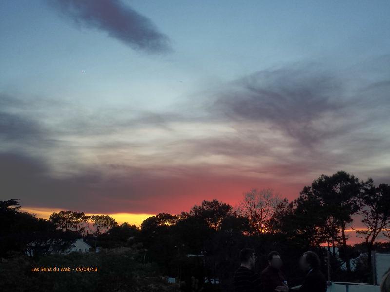 Soleil couchant vu du golf Chiberta - 05/04/18